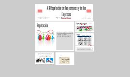4.3 Reputación de las personas y de las Empresas
