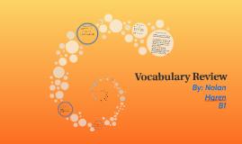Units 1-3 vocab review