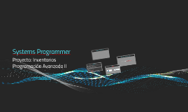 Systems Programmer