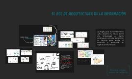 La Arquitectura de la Información como disciplina no busca d