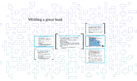 Writing a great lead