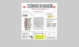 Copia de ESTÁNDARES EN EDUCACIÓN