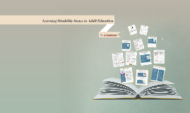 Learning Disability Issues in Adult Education