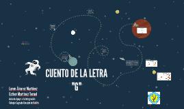 CUENTO DE LA LETRA