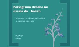 Paisagismo Urbano_Escala do bairro