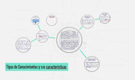 Copy of Copy of Tipos de Conocimientos y sus caracteristicas