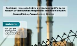 Análisis del proceso y proyecto de gestión de los residuos generados en una fábrica de plásticos PET