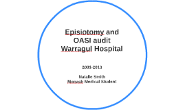 Episiotomy and OASI audit