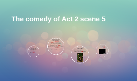 The comedy of Act 2 scene 5