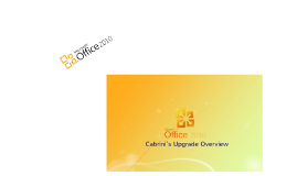 Microsoft Office 2010 Migration
