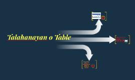 Copy of Talahanayan o Table