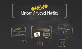 *NEW* Linear A-Level Maths