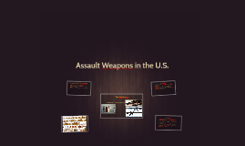 Assault Weapons in the U.S.