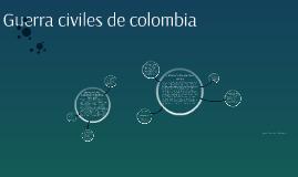 Guerra civiles de colombia