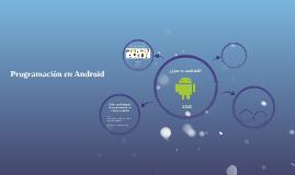 Programaciòn en Android
