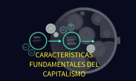 CARACTERÍSTICAS FUNDAMENTALES DEL CAPITALISMO