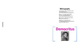 Democritus- The Atom