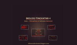 BIOLOGI TINGKATAN 4