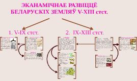 6-7. ЭКАНАМІЧНАЕ РАЗЬВІЦЦЁ БЕЛАРУСКІХ ЗЕМЛЯЎ V-XIII стст.
