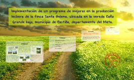 Implementación de un programa de mejoras en la producción le