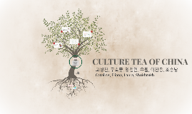 CULTURE TEA OF CHINA