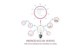 PRONÓSTICO DE VENTAS
