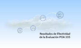 Resultados de Efectividad de la Evaluación POA 205