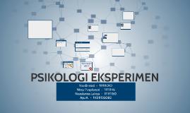 Copy of PSIKOLOGI EKSPERIMEN