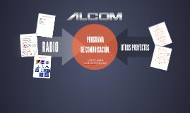PROGRAMA DE COMUNICACIÓN.