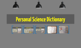 Personal Science Dictionary