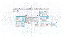 La investigación científica - la investigación en derecho