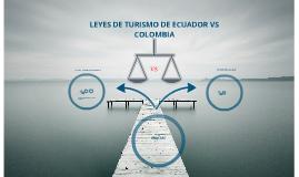Ley de turismo Ecuador vs Colombia