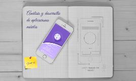 Análisis y desarrollo de Aplicaciones móviles