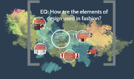 EQ: How are the elements of design used in fashion?