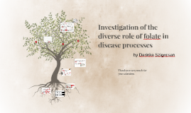 Investigation of the diverse role of folate in disease proce