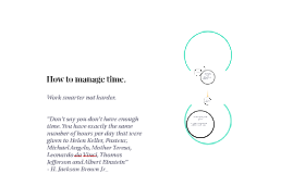 Copy of How to manage time.