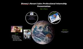 Disney's Resort Sales Professional Internship Presentation