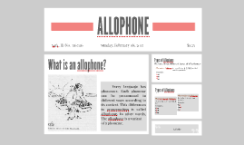 ALLOPHONE