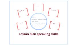 Lesson plan speaking skills