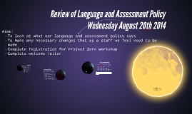 Review of Language and Assessment Policy