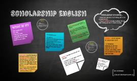Copy of Scholarship English