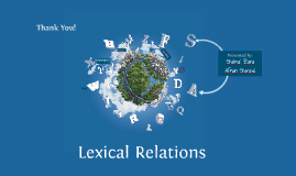 Lexical Relations - Semantics