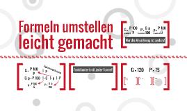 Formeln umstellen