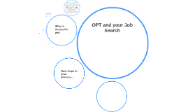 OPT and your Job Search