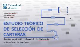 ESTUDIO TEORICO DE SELECCION DE CARTERAS