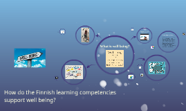 How do the Finnish learning competencies support well being?