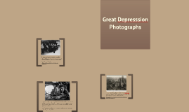 Great Depresssion Photographs