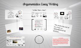 Copy of  Argumentative Essay Writing