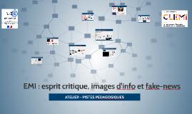 EMI : esprit critique, images d'info et fake-news