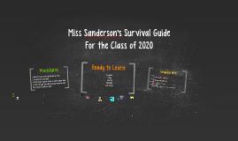 Miss Sanderson's Survival Guide